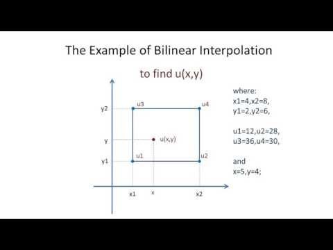 The Example of Bilinear Interpolation - YouTube
