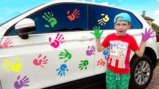 Eli goes to a Big Car Wash with daddy