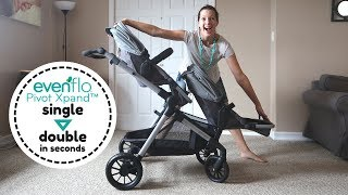 Evenflo Pivot Xpand Review - Convert Single to Double Stroller in Seconds!