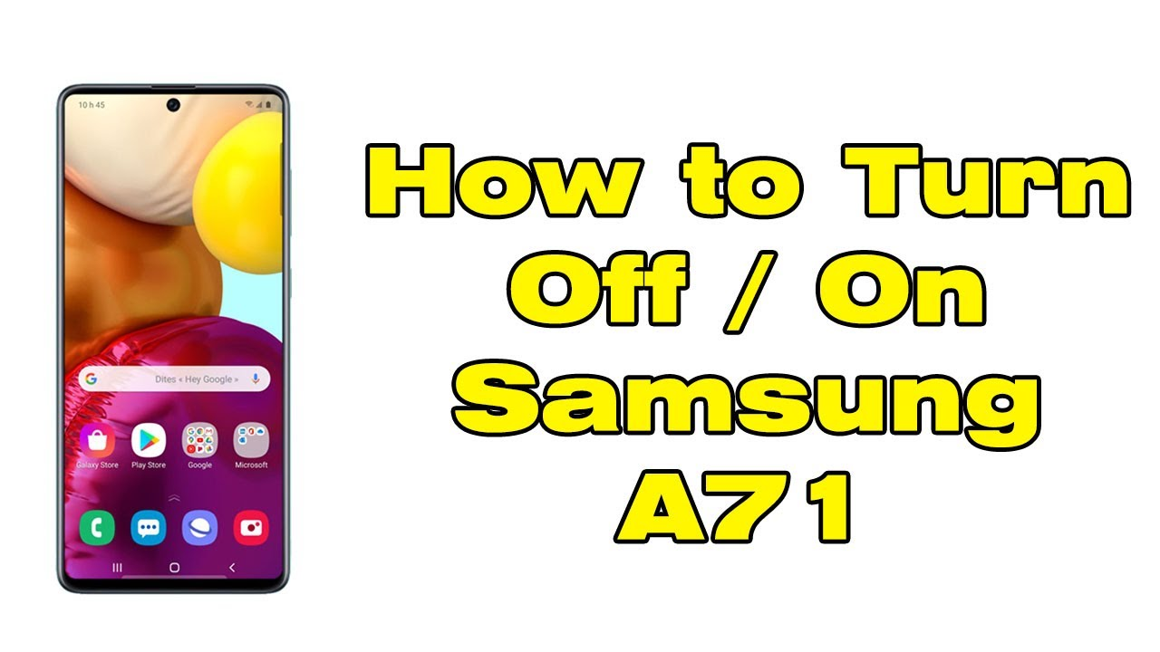 How to Turn off Samsung A71 - YouTube