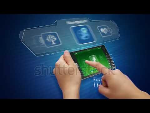 Hands Holding And Using Business Application On A Tablet Computer Séquences vidéo libres de droit 21
