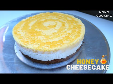 cheesecake-au-miel|no-bake-honey-cheesecake-🍯-#ninoshome
