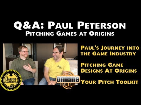 LoGM - Paul Peterson: Pitching Games at Origins