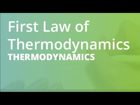 Work, Heat and the First Law of Thermodynamics   Thermodynamics (THRM101)
