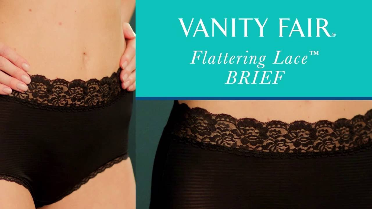 d2f750e7950 Vanity Fair Flattering Lace Brief 13281 - YouTube