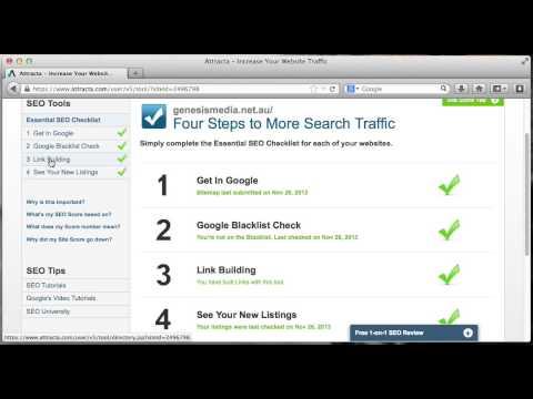 Joomla Tutorial - Using Attracta.com