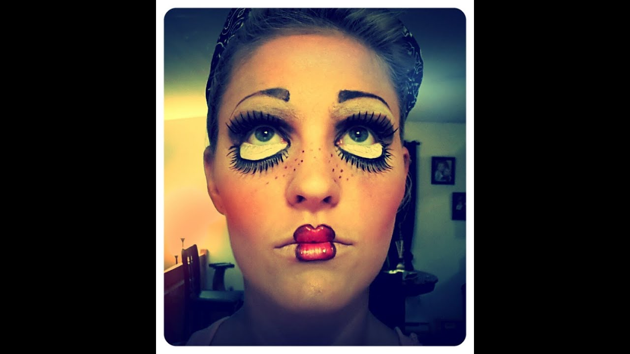 Doll makeup maquillage de poup e youtube - Maquillage poupee halloween ...