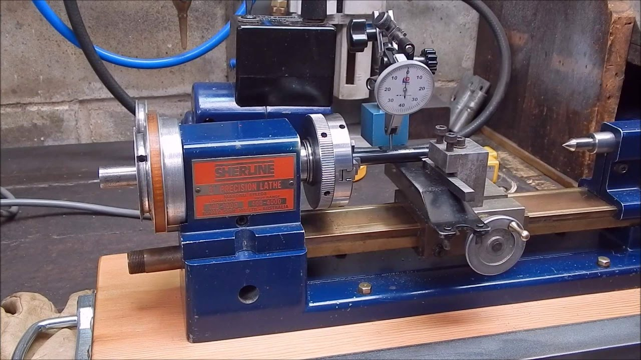Metal Alignment : Sherline metal lathe alignment and headstock flex youtube