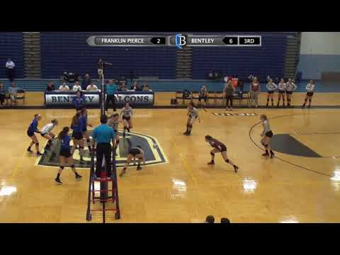 Volleyball Highlights: Bentley vs. Franklin Pierce 9-19-17
