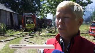 Boerderij afgebrand in Lunteren