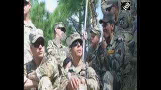 India News - U.S.  Indian army soldiers hold joint military exercise in northern India