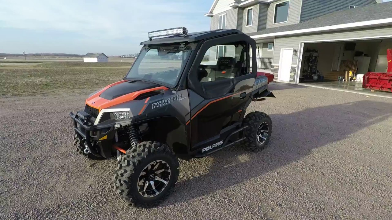 2017 Polaris General Seizmik Upper Doors Installed Youtube