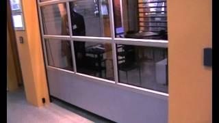 видео панорамные секционные ворота