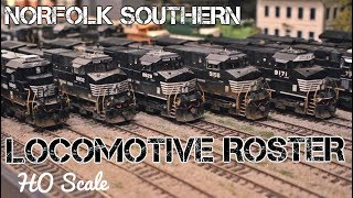 HO Scale Locomotive Roster - Modern Norfolk Southern Layout
