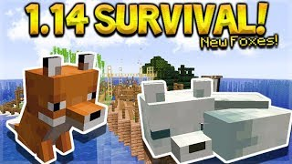 MINECRAFT 1.14 - SHIPWRECK SURVIVAL ISLAND! NEW FOXES MOB! (Dinnerbone Seed)