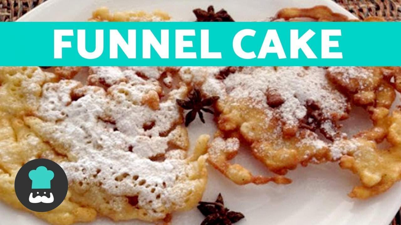 Funnel Cake Receta En Espanol Facil Paso A Paso Youtube