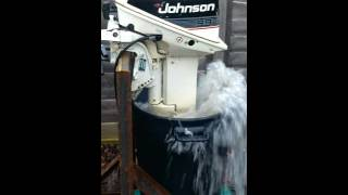 Johnson 9.9 converted into 15 hp 2 stroke outboard engine