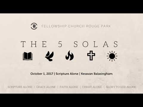 Scripture Alone - Kesavan Balasingham (October 1, 2017)