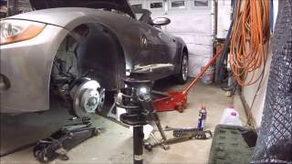 How to Replace Front Struts + Reinforcement Plates - BMW Z4 Vlog #25