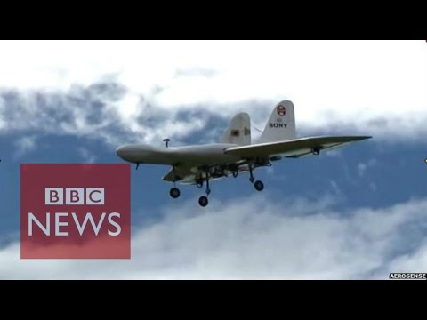 Sony tests 'superfast' commercial drone - BBC News