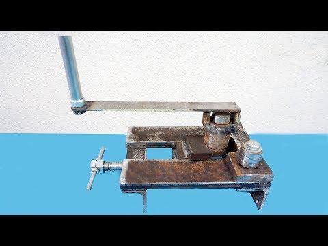 Homemade Roller Bender || Make A Metal Bender