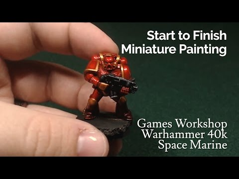 Miniature Painting | Warhammer 40k - Space Marine - Candy Red