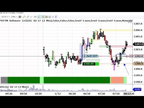 Live Day Trading Gold Futures 1-12-2017