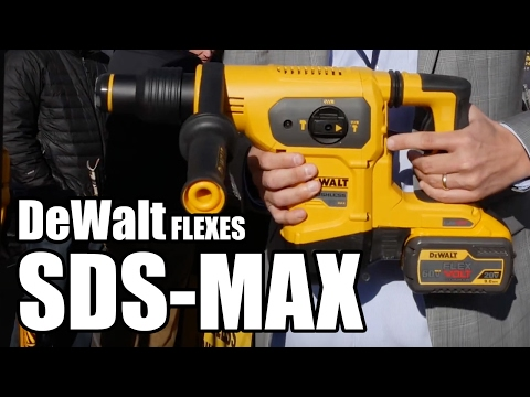 DeWalt DCH481 60V SDS-MAX Rotary Hammer at World of Concrete - YouTube