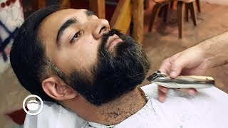 Getting Beard Trimmed at Barbershop for Wedding thumbnail