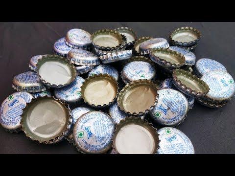 Best DIY reuse idea from waste metal bottle cap craft idea। best out of waste.