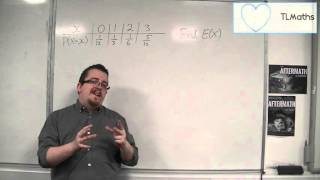 ocr mei statistics 1 3 06 introducing the expected value e x