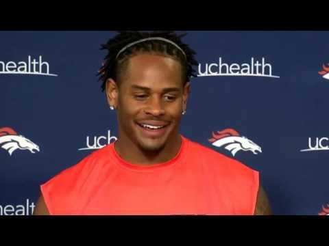 Denver Broncos (NFL). Todd Davis meets with the media. 2017 06 01