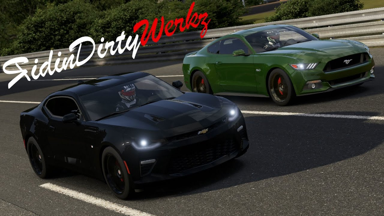 1000hp turbo 2016 chevy camaro ss vs 1000hp 2015 ford mustang gt forza motorsport 6 youtube. Black Bedroom Furniture Sets. Home Design Ideas
