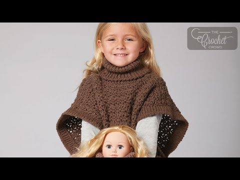 How To Crochet A Poncho Doll And Girl Matching Set Youtube