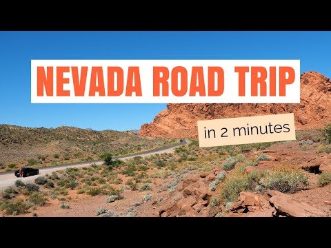 Nevada Road Trip in 2 minutes