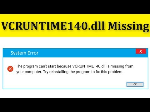 How To Fix VCRUNTIME140.dll Is Missing Error Windows 10/8/7