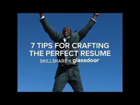 Glassdoor + Skillshare | 7 Tips to Craft the Perfect Resume