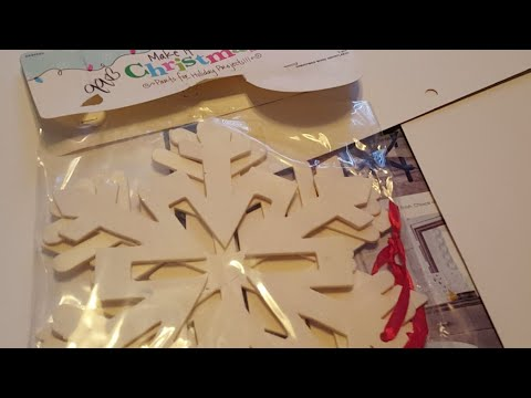 🔴 LIVE PAINTING WOODEN SNOWFLAKES with BILL & Chit Chat