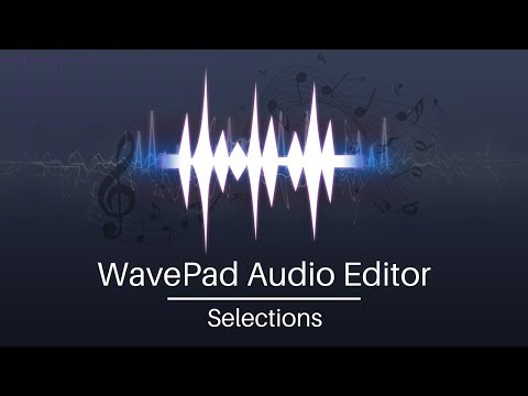 WavePad Audio Editing Tutorial | Audio Selections