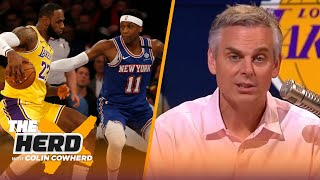 Lakers won't win title this year, LeBron wouldn't have saved Knicks' brand - Colin | NBA | THE HERD