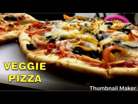 PIZZA RECIPE / BASIC VEGETABLE PIZZA Recipe/ PIZZA DOUGH RECIPE