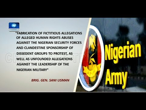 Army Accuses Amnesty International Of Working To Destabilise Nigeria |Network Africa|