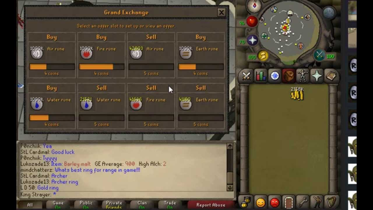 F2P/P2P Item Flipping / Merching Runes Update | 2007 Old School Runescape