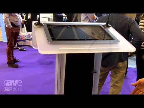 ISE 2015: Axeos Presents the NEONYX Lectern with Adjustable Height