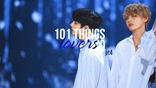 [TAEKOOK] 101 THINGS LOVERS DO (pt4)
