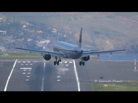 Wind out of limit || Bumpy Approach || Crosswind Landing || Madeira