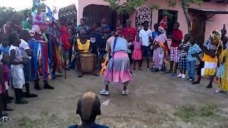 Danza Wanaragua o Mascaro en la comunidad de San Juan, Tela. Honduras C. A.