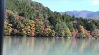 """Akaishi-Maru"" Boat on Ikawa Lake 1 井川湖の赤石丸 Bote ""Akaishi-Maru"" de Lago Ikawa"
