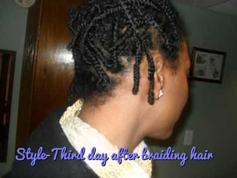 Grow Natural Hair Longer With Box Braids Youtube