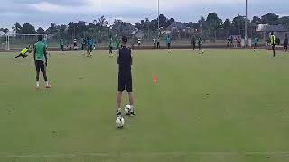 The Super Eagles' first training session in Uyo ahead of the Zambia match.